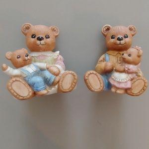 Vintage Homco Porcelain Nursery Bears